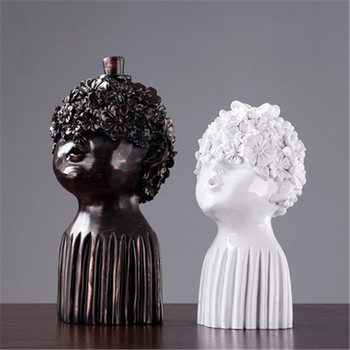 Abstraction Figures Head Portraits Resin Craftwork Sculpture Living Room TV Cabinet Personality Decoration X2898