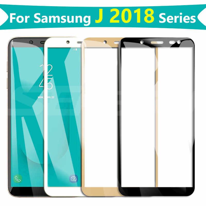 9D زجاج واقي على لسامسونج غالاكسي S7 J3 J5 J7 2016 2017 J2 J4 J6 J8 2018 المقسى واقي للشاشة زجاج عليه طبقة غشاء رقيقة حالة