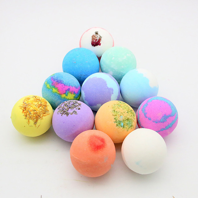 12PCS Bubble Bath Ball Shower Bomb Skin Essential Oil Moisturizing Exfoliating Moisturizing Skin Care Natural Bath Bomb 4