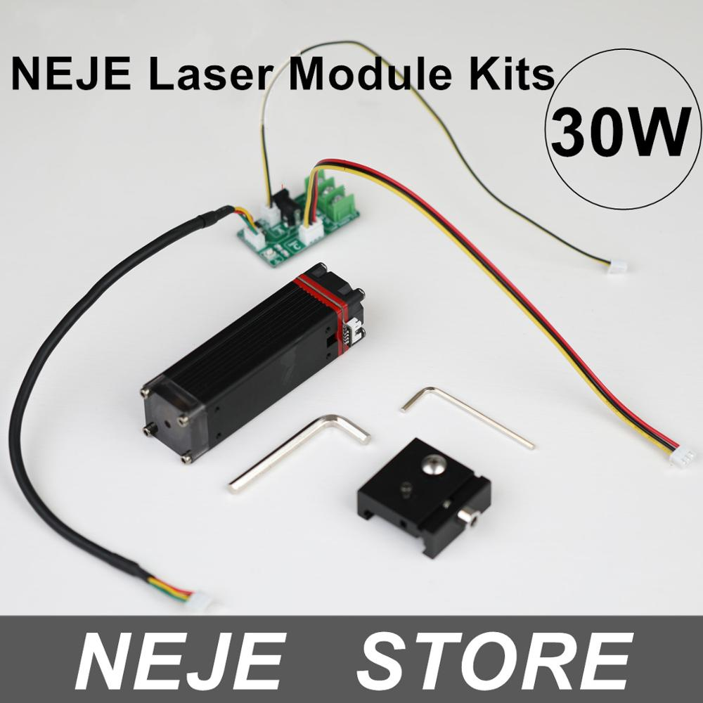 NEJE 30W Laser Module Kits Fixed Focal Length Sliding Focus for Laser Engraving  Cutting Machine with Interface Adapter Board