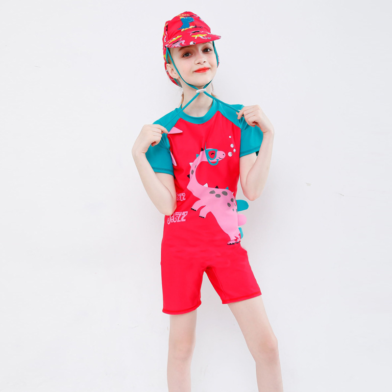Hot Selling Bathing Suit Cartoon One-piece Swimsuit For Children Girls Boxer Sports Outdoor Sun-resistant Big Boy GIRL'S