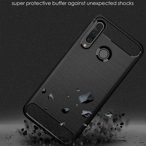 Image 3 - Caso de alta calidad para Huawei Y9 2018 2019 caso de lujo del TPU de fibra de carbono de silicona suave para cubrir Huawei Y9 2018, 2019