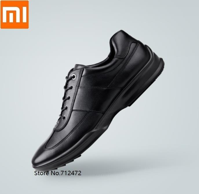 Homens de Negócios de Lazer Sapatos de Couro Camada do Couro Xiaomi Primeira Qimian Amortecimento Apoio Moda Calçados Condução