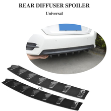 Universal Roof Wing Spoiler Rear Bumper Lip Chassis diffuser ABS Plastic 7 Fin For Bmw E46 Alfa Romeo Ford Toyota , car stickers