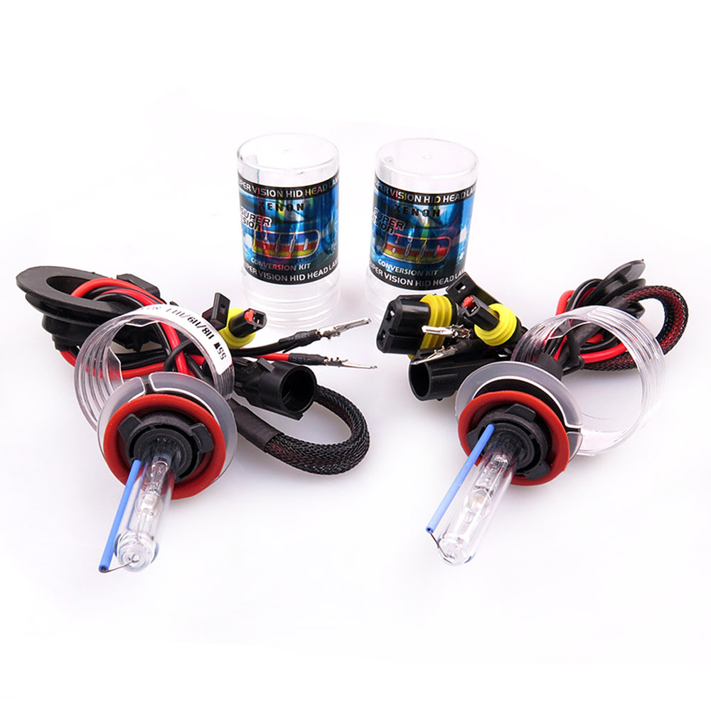 2pcs 12V 55W H7 HID Conversion Kit H1 H3 H11 9005 Bulb Auto Car Headlight Lamp Slim Ballasts Auto Headlight Lights