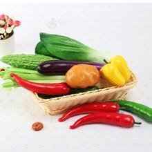 Имитация искусственных овощей длинные баклажаны перец чили для домашнего декора DIY Модель окна ресторана дисплей фотографии реквизит