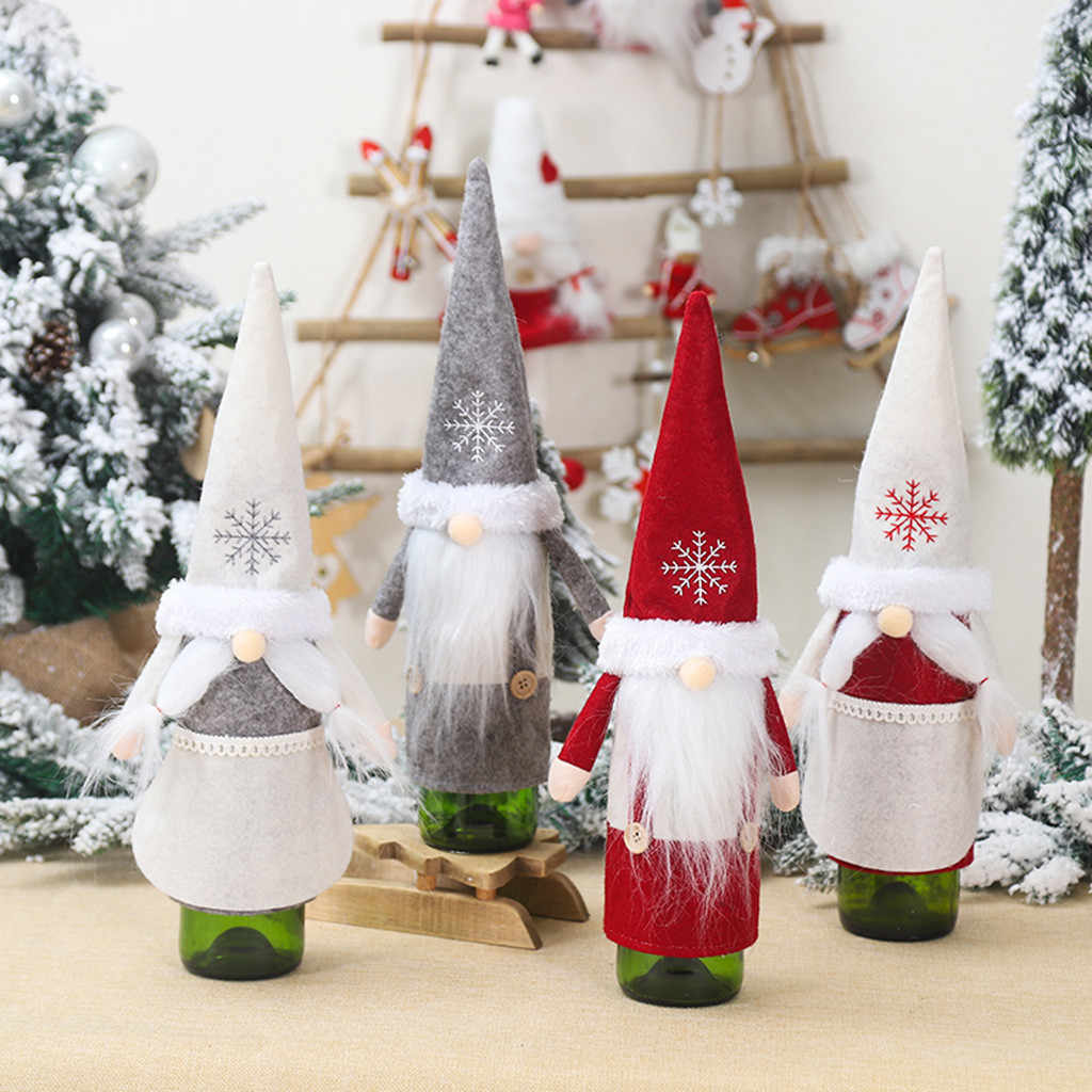 Wine Bottle Covers Merry Christmas Santa Wine Bottle Bag Cover Xmas Festival Party Table Decor Gif Christmas  Decoration 19SEP25