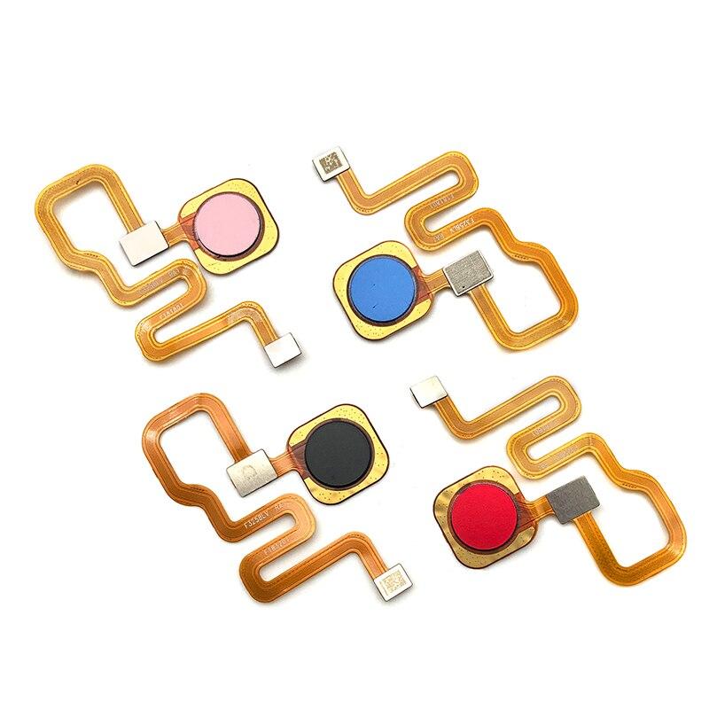 10 pçs/lote, 100% Testado Original Sensor de Impressão Digital Início Voltar Chave Botão Menu Flex Ribbon Cable Para Xiaomi Redmi Nota 6 Pro - 2