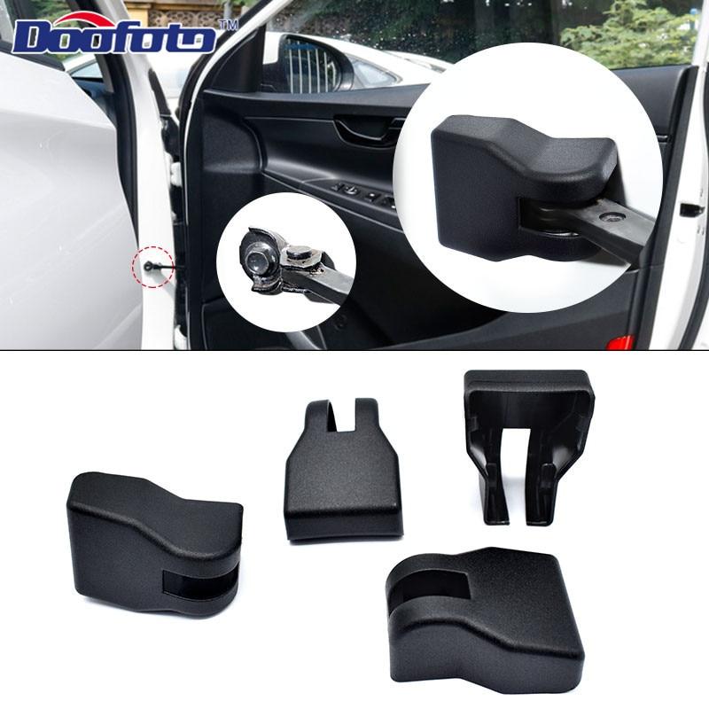 Doofoto 4X Car Arm Door Lock Limiting Stopper Cover For Hyundai Tucson I30 I10 Solaris I20 Kona Ix25 Accessories Styling Case
