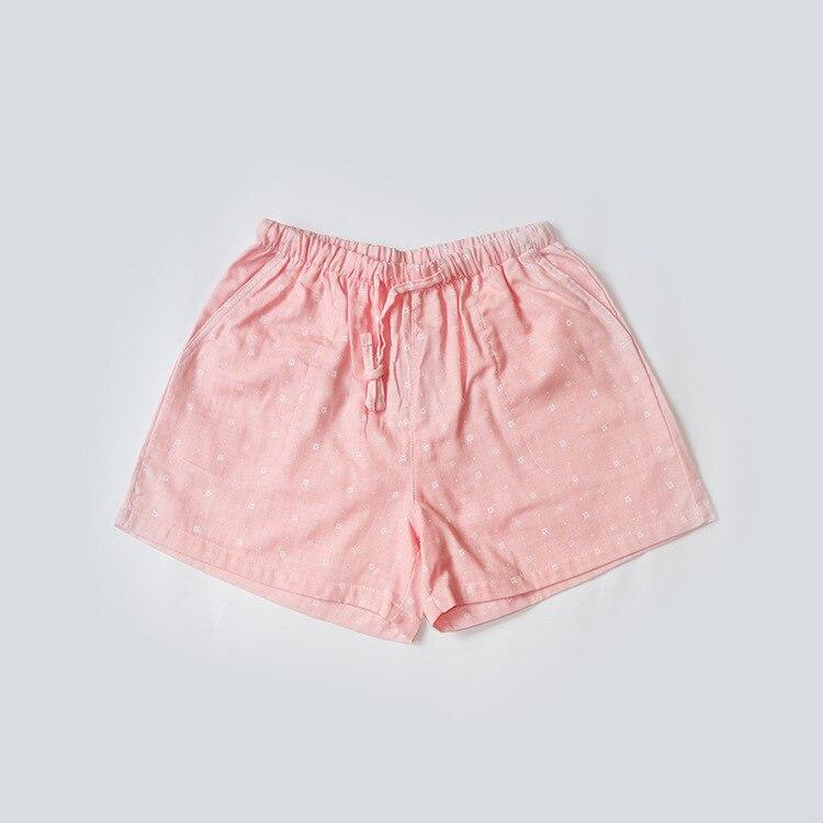 Летние женские Пижамные шорты, хлопковые газовые пижамы, штаны с принтом, штаны для сна, одежда для сна, женская одежда для сна - Цвет: Snow Pink