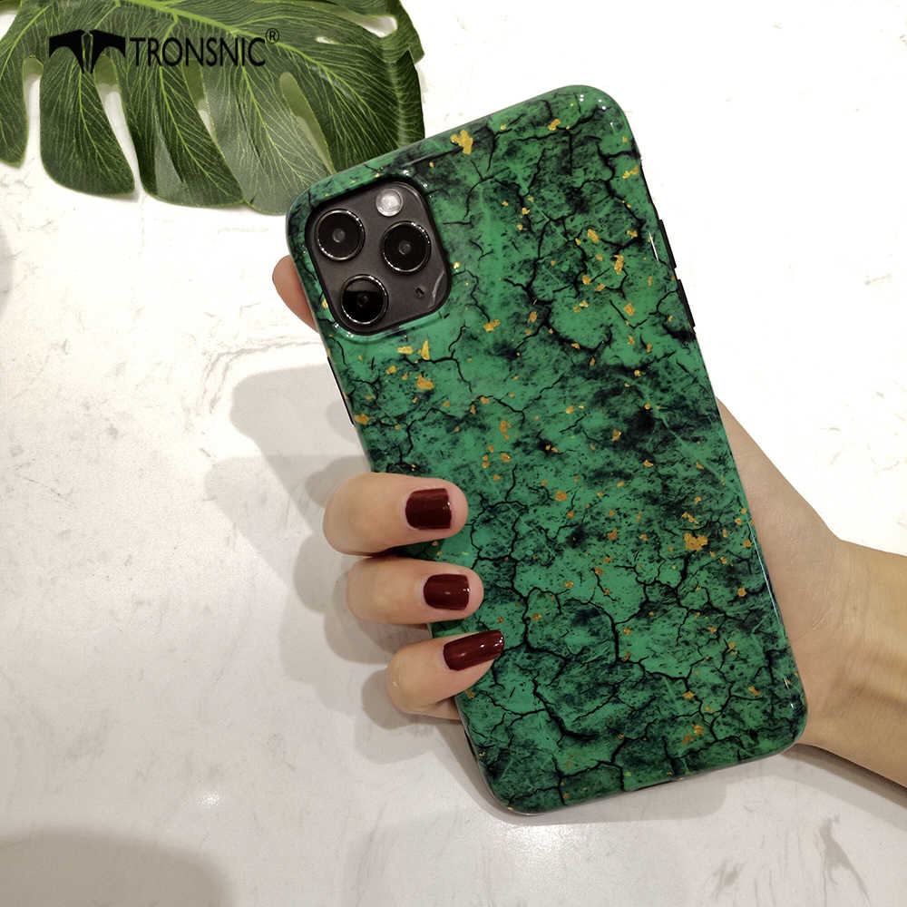 Glitter Marble Phone Case for iPhone 11 Pro Max XR X XS MAX Green Red Case for iPhone 6S 7 8 Plus Gold Foil Luxury Cover Fashion