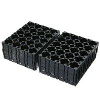 10 pces 4x5 célula bateria espaçador 18650 bateria irradiando escudo pacote plástico suporte de suporte de calor|Acessórios para baterias| |  -