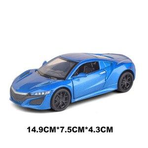 Image 4 - אקורה NSX 1:32 Diecast דגם רכב סימולציה מתכת ספורט רכב סגסוגת מכוניות עם קול אור כלי רכב למשוך בחזרה צעצוע מכונית לילדים