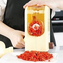 Ręczna maszynka do mięsa domowego wielofunkcyjna ostrze ze stali nierdzewnej młyn MINI maszynka do mięsa maszyna do cięcia pieprzu warzywnego w Maszynki do mielenia mięsa od AGD na