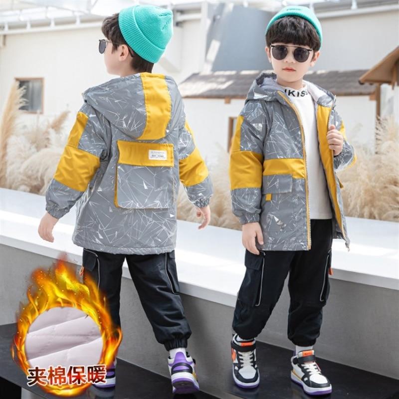 Пальто для мальчиков весна осень в Корейском стиле новинка 2020