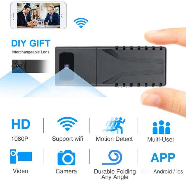 JOZUZE HD 720P DIY Portable WiFi IP Mini Camera P2P Wireless Micro webcam Camcorder Video Recorder Support Remote View TF card 3