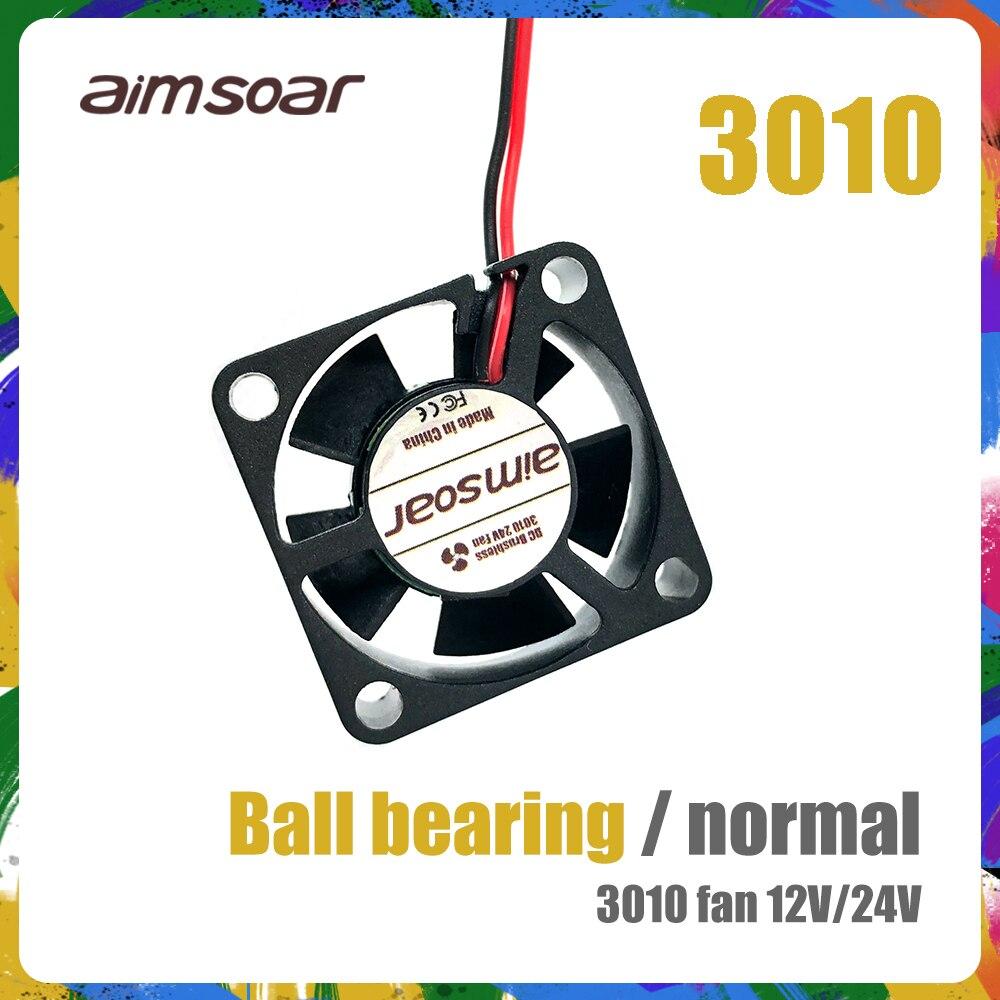 Ventilador 12v 24v ender 3 ventilador 30mm 3010, rolamento duplo de esferas/ventilador hidráulico, 2 pinos 3d peças da impressora 3010 30*30*10mm