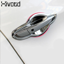 Hivotd ABS Chrome Door Handle Cover For Peugeot 3008 GT 508 2017 2018 2019 Car Accessory door Bowl Protection