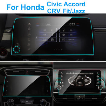 Car GPS Navigation Screen Protector for Honda Accord Civic CRV Fit Jazz Screen Tempered Glass Protective Film Interior Accessies image