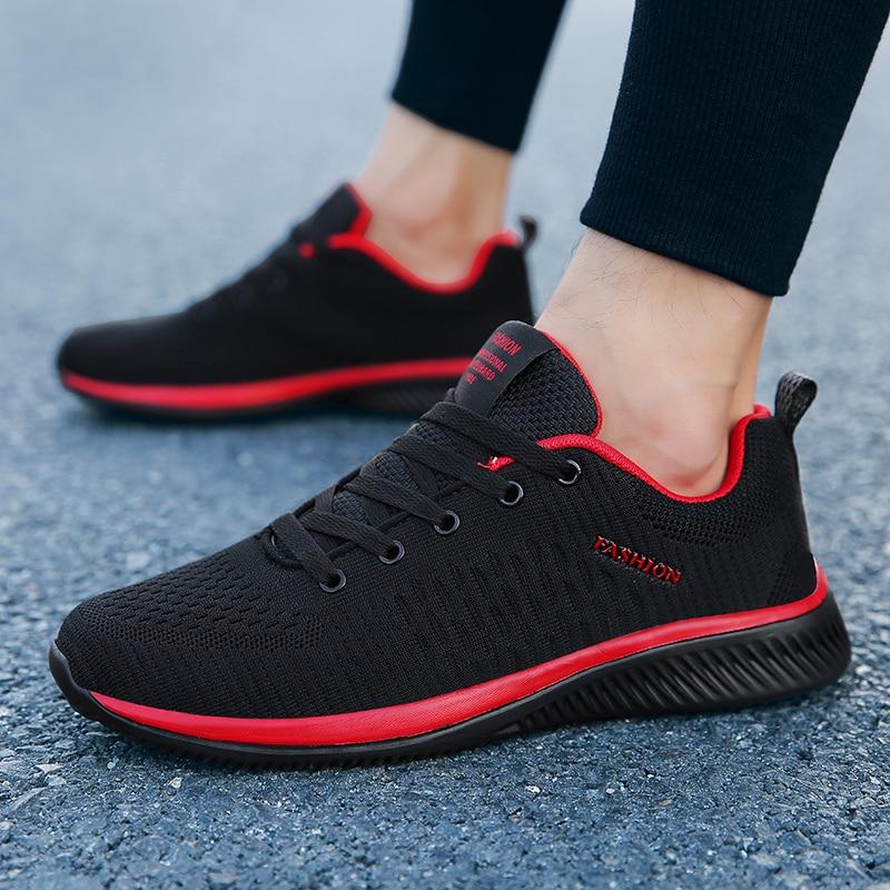 Spring Men Shoes Sneakers Casual Breathable Air Mesh Shoes Zapatillas Hombre Deportiva Sapato Masculino Adulto Big Size Men 2019
