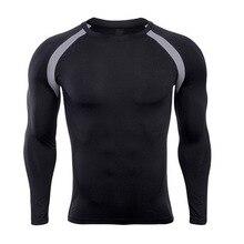 MJARTORIA 2019 Mens Fitness Rashguard Bodybuilding Skin Tight-drying Tight Thermal Compression Quick-drying long-sleeved shirt