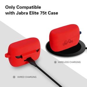 Image 2 - 2020 lançado silicone macio pele amortecedora capa protetora com chaveiro para jabra elite active 75t led traseiro visível