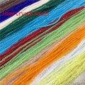 Цветные стеклянные бусины Rondell, 200 шт./нитка, 1x2 мм, 2x3 мм, с кристаллом, граненые, маленькие бусины для самостоятельного изготовления ювелирны...