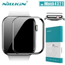עבור iWatch סדרת 4 3 2 1 זכוכית מסך מגן Nillkin 3D AW + מלא כיסוי בטיחות מזג זכוכית עבור אפל שעון 38/40/42/44 MM