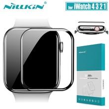 Защитное стекло для iWatch Series 4 3 2 1 Nillkin 3D AW + Полное покрытие, защитное закаленное стекло для Apple Watch 38/40/42/44 мм