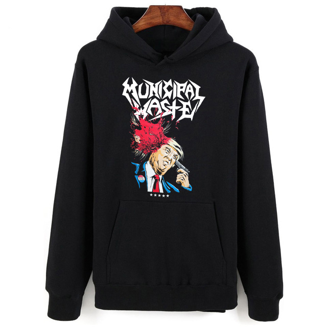 MUNICIPAL WASTE - DONALD TRUMP WALLS OF DEATH - Official Hoodies - New S M L XLT Hoodies Summer Style