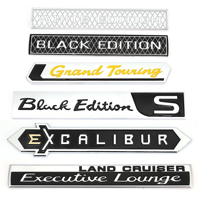 Автомобильные наклейки, эмблема, Наклейка для Toyota Land Cruiser, представительский салон, белый, черный выпуск, S Excalibur Grand Touring GT, наклейки