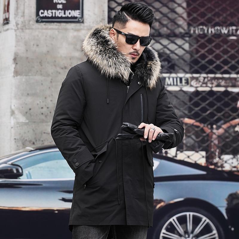 Winter New Style Men's Coat Fur Otter Coat Hooded Fur Collar