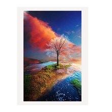 Алмазная картина 5d diy украшение для дома дерево 40x30 см красочные