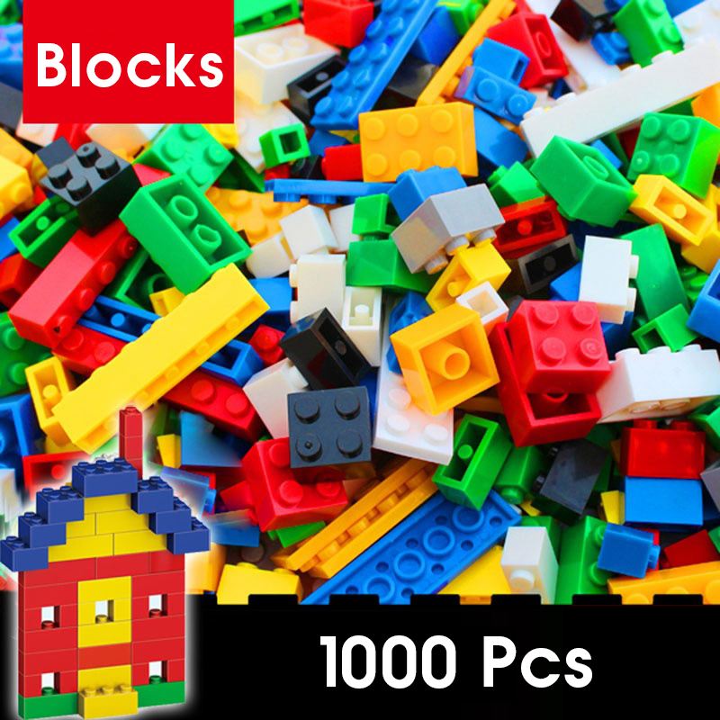 MMloveBB <font><b>1000</b></font> <font><b>Pcs</b></font> Building Blocks Sets City DIY Creative Bricks <font><b>Compatible</b></font> inglys Bricks Bulk Educational Kids Toy Blocks image