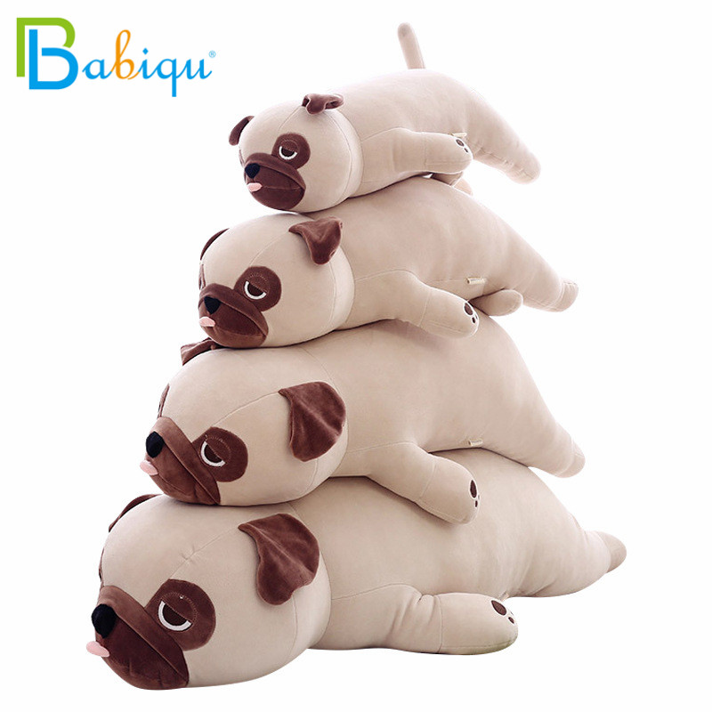 55-90cm Cute Animal Dog Plush Toy Baby Sleep Pillow Birthday Gift Child Girl Soft Appease Pug Stuffed Christmas Present For Kids