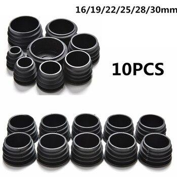 10Pcs/lot BLack Furniture Leg Plug Blanking End Cap Bung For Round Pipe Tube Diameter 16/19/22/25/28/30mm - discount item  30% OFF Furniture Accessories