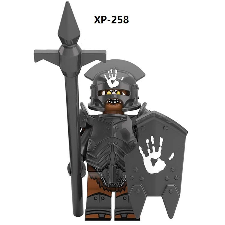 The Movie Monster Uruk-Hais Shaman Reload The Crossbow Commander Of The Uruk-hai Uruk-mechs Uruk-man Archer Building Blocks Toys