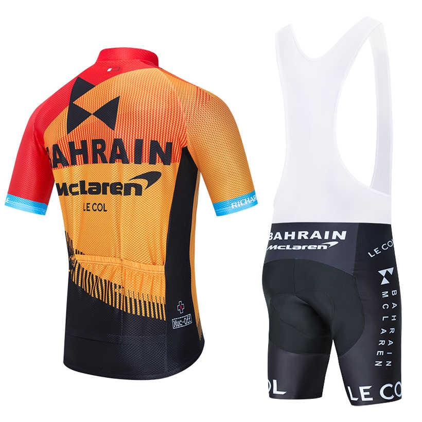 2020 ÉQUIPE BAHREÏN Maillot de cyclisme 20D vélo Ensemble Short Et Haut vtt Ropa d'été Pour Hommes à séchage rapide pro cyclisme CHEMISES Maillot Culotte Usure