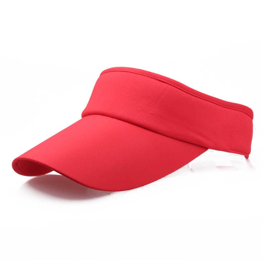 新到着ユニセックス調整可能な男性女性の夏のスポーツヘッドバンドサンバイザー帽子キャップスポーツ夏帽子女性ビーチ 903