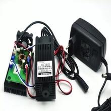 450 нм мощный 4 Вт 4000 мВт синий лазер точка модуль гравировка лазеры Вт 12 В адаптер