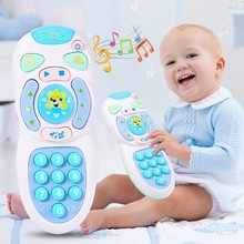 17cm x 6.5cm 3 x AAA Batteries Simulation Electric Remote Control LED Music Mobile Phone Baby Interactive Toy