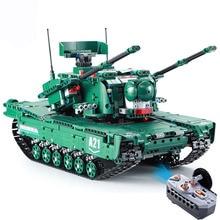 1498PCS RC Tank Building Blocks  Military Model Bricks Assembling building block toys technic Remote Control Car birthday gift цена 2017