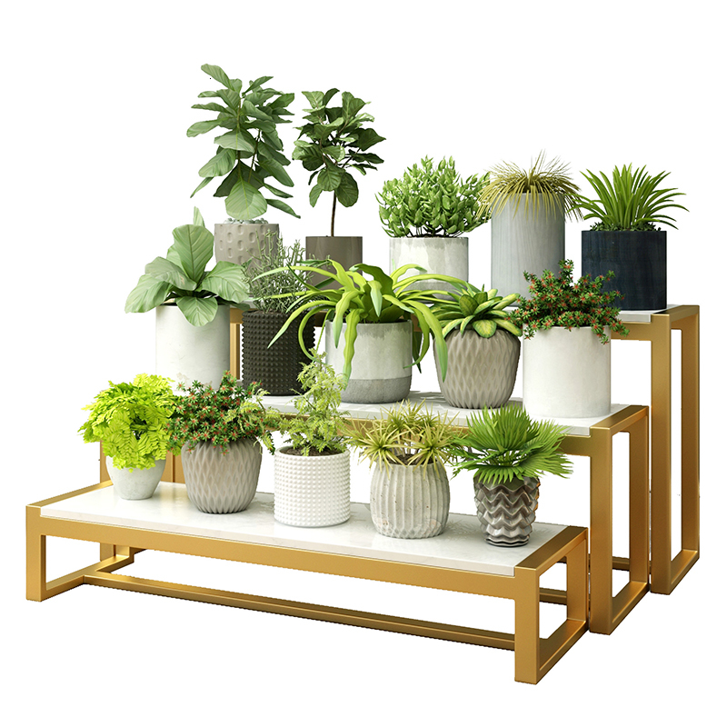 Room Domestic And Foreign Marble Balcony Shelf Multi-storey  Ladder Type  A Living Room Flower Rack
