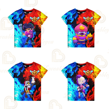 Shark Leon t-shirty lato i gwiazda dzieci dzieci t-shirty strzelanka 3d letnie chłopcy dziewczęta topy T-shirt nastolatki ubrania tanie i dobre opinie Unisex 3-6y 7-12y 12 + y CN (pochodzenie) NN564D8 1 - 3cm Teenagers Kids T-shirt Cosplay 3D Printed Hoodies Boys T-shirt Girls T-shirt