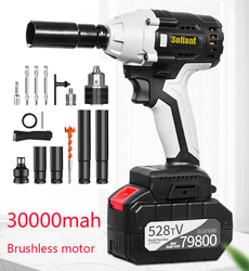 Sollant 30000mah Elektrische Schlagschrauber Corded 1/2-Zoll, 980N.m Max Drehmoment, 3800rpm geschwindigkeit Auswirkungen mutter schlüssel power tools
