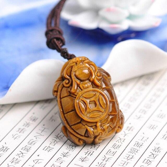 Натуральный желтый тигровый глаз Каменная Резная подвеска китайский