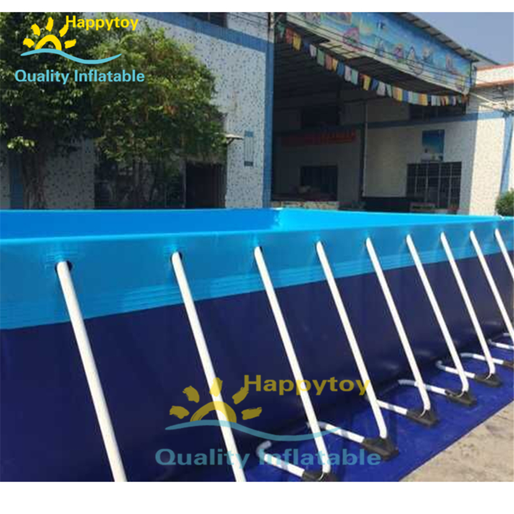 Large Above Ground Steel Wall Rectangular Metal Frame Swimming Pool For Sale