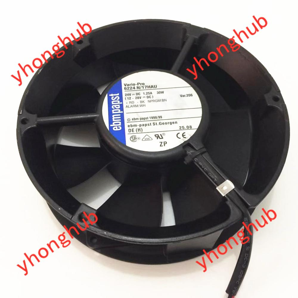 вентилятор ebmpapst 6224n - ebmpapst 6224 N/17HAU 6224N/17HAU DC 24V 1.25A 172x172x51mm Server Cooler Fan