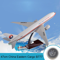 47cm Boeing 777 Aircraft Model China Eastern Air Cargo Airplane Resin Airbus B777 Airways Model Aviation China Cargo Stand Craft