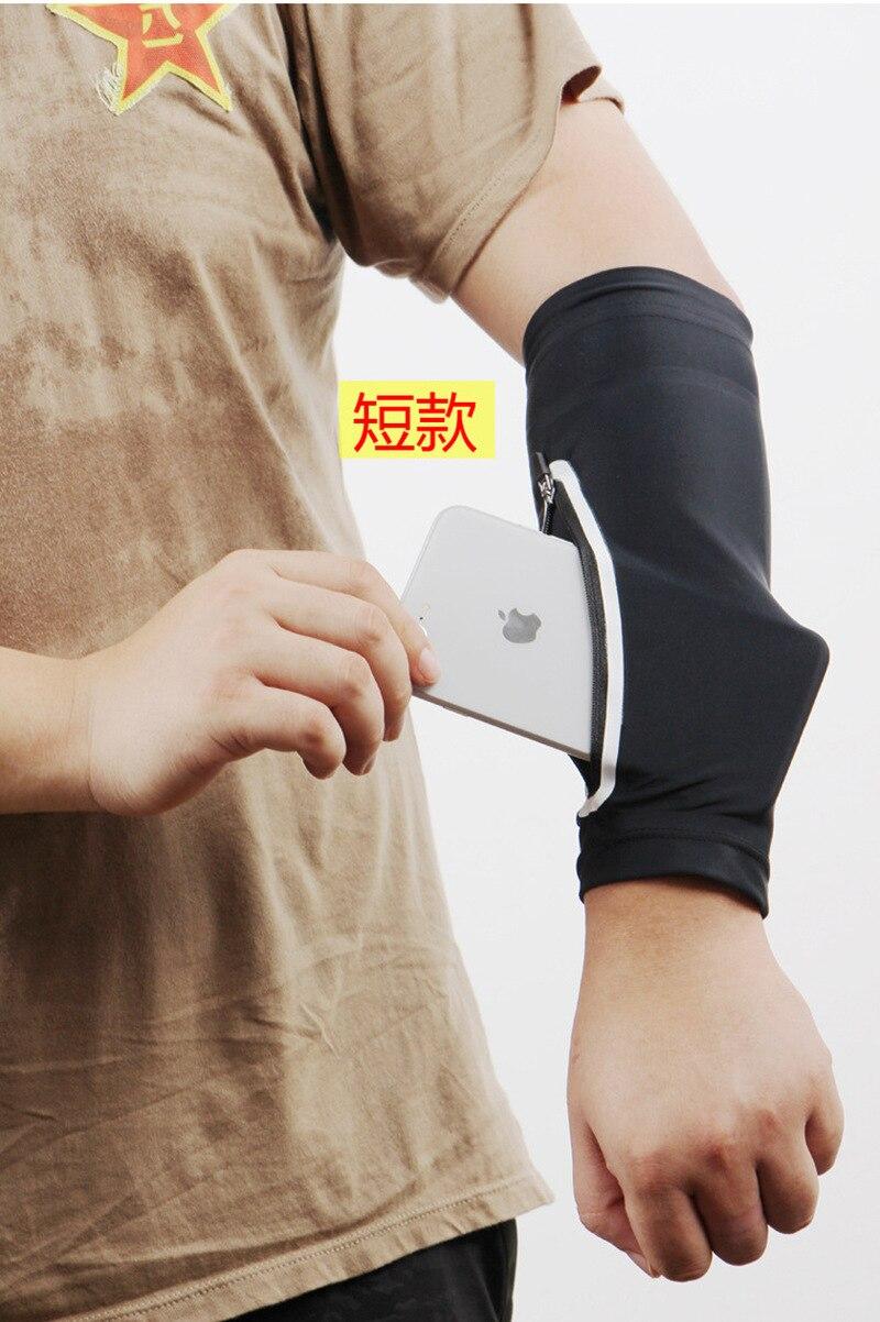 running - 1PC Unisex Short Arm warmer for Mobile Phone Stretch Arm Bag Running Riding Sunscreen Armband Wrist Bag